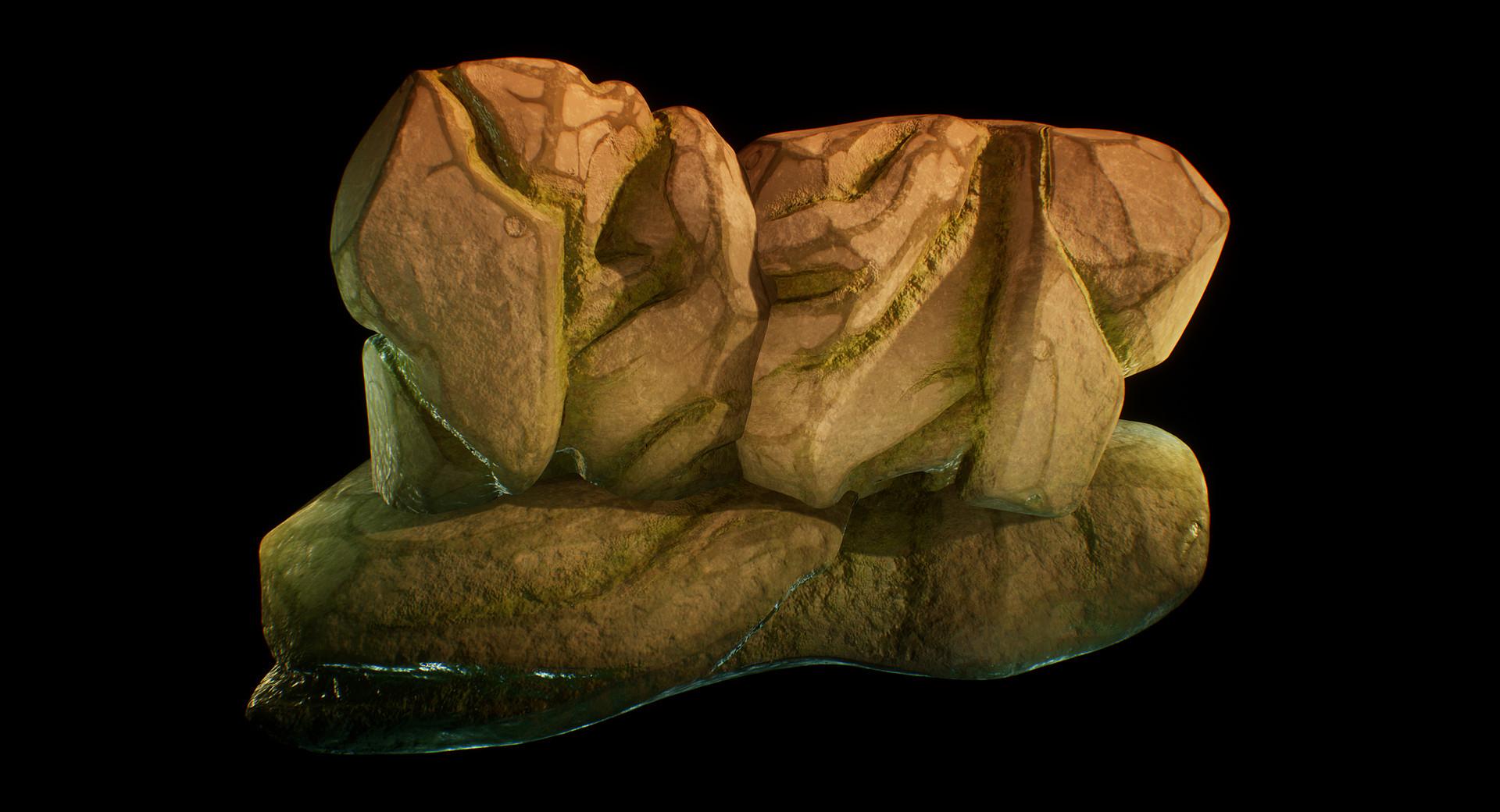 ArtStation - Enviroment, 3D modeling Rocks, Julia Morant