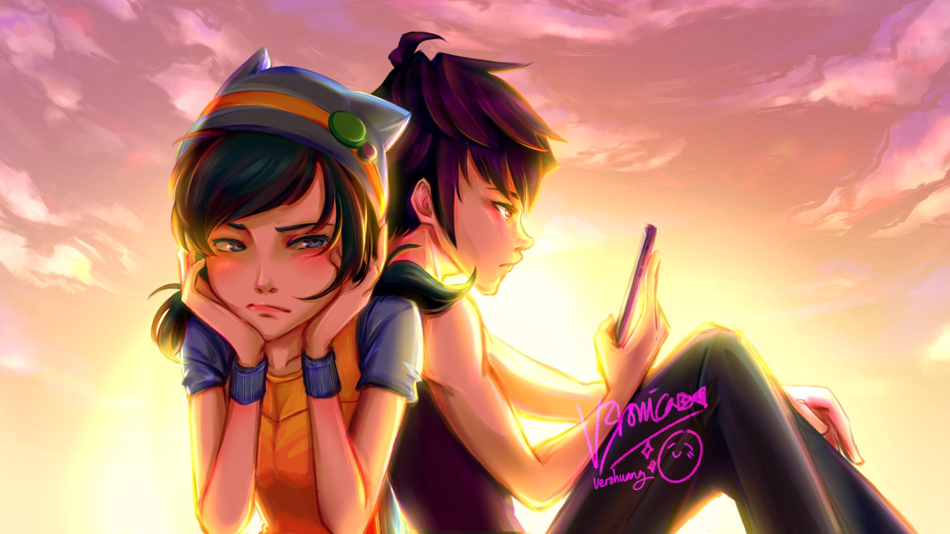 Artstation Ying And Fang From Boboiboy Galaxy Animonsta