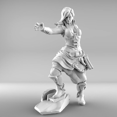 character model ready to print