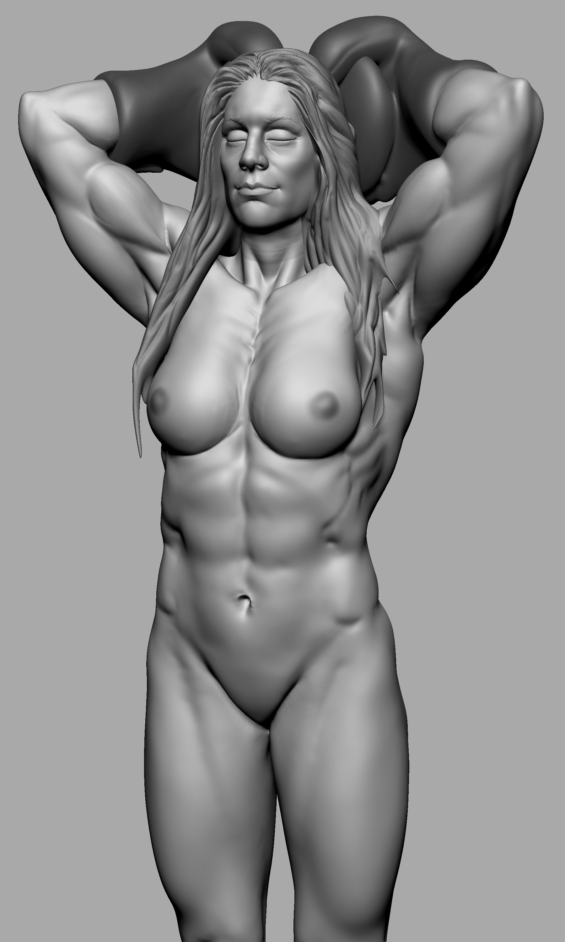 Female free muscle nude