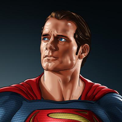 Vassilis dimitros henry cavill superman artsation