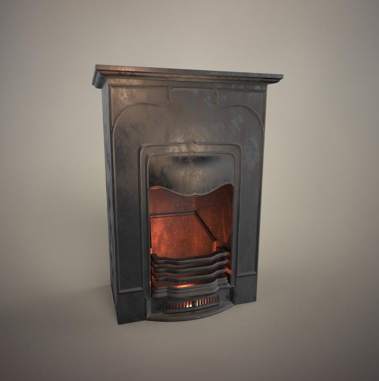 Artstation Cast Iron Fireplace Iryna Baibarza