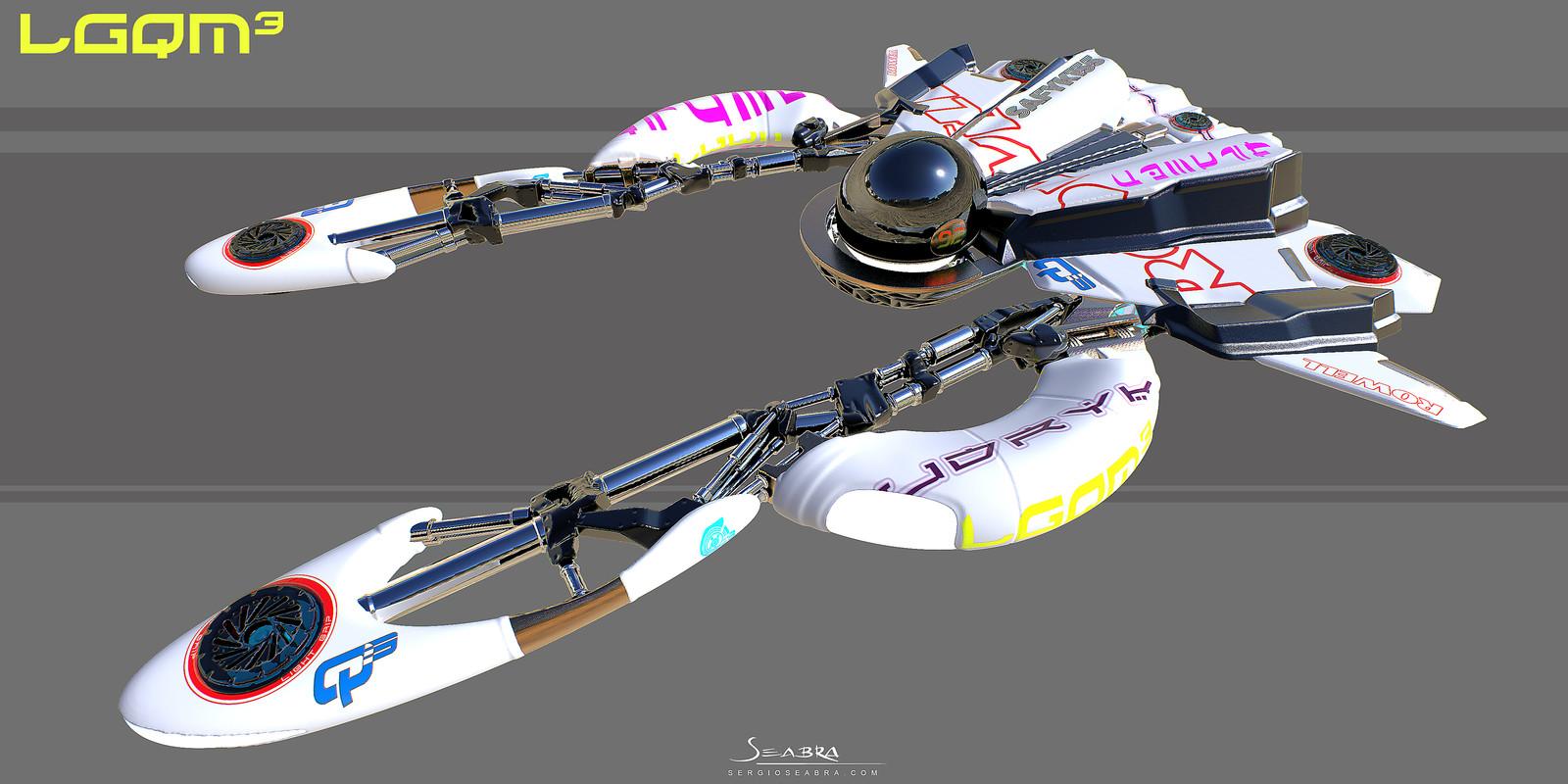 LGqm3 - Light grip racing pod