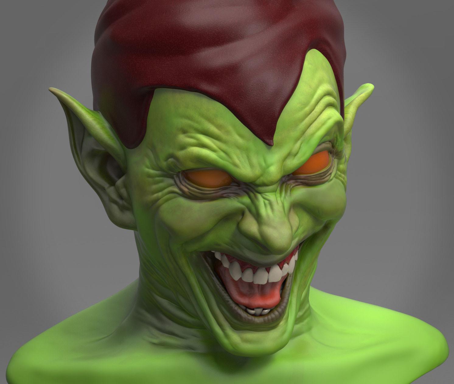 artstation green goblin wip roberto fernandes