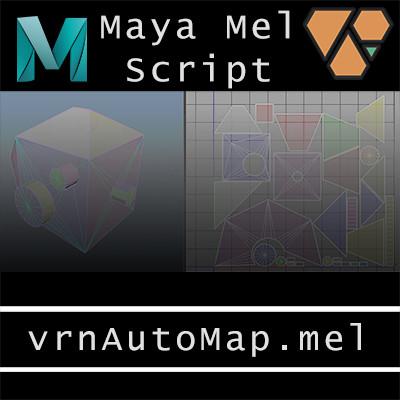 Maya Mel UV Script: vrnAutoMap