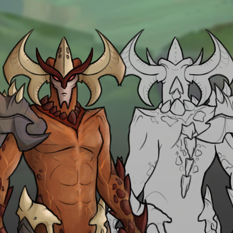 Demonforge Aatrox | Character Skin Concept