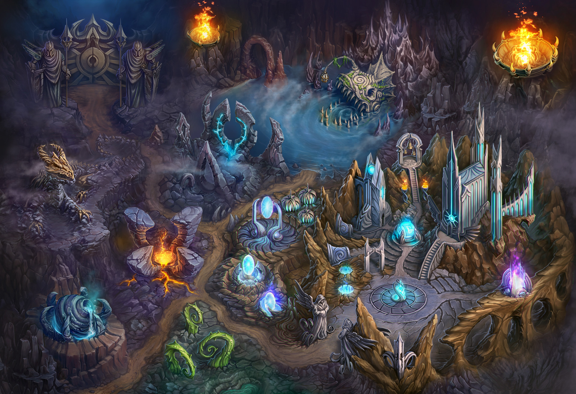 ArtStation - Map of the magical world, Alex Yunak