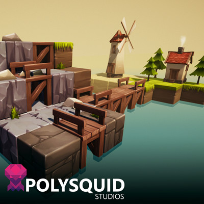 Poly squid cube thumb