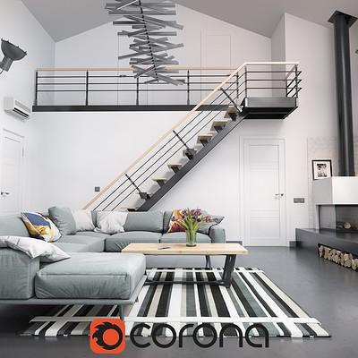 Modern Loft - Corona Renderer