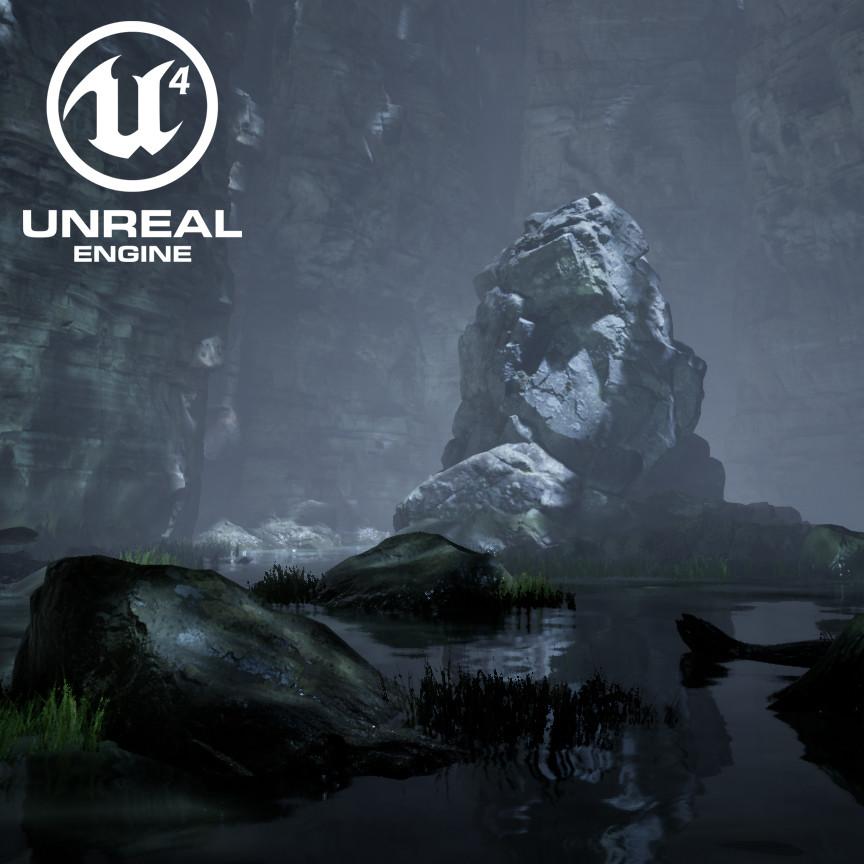 Moonlit Cave - UE4 Lighting Exercise