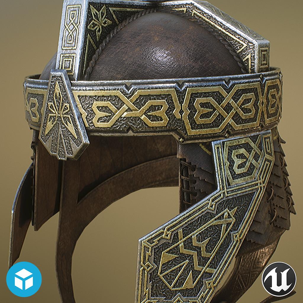 Gimli's Helmet - realtime prop