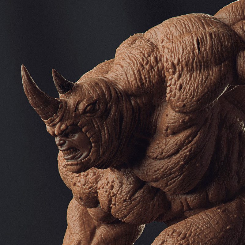 Rhino - Art Scale 1/10 - Iron Studios