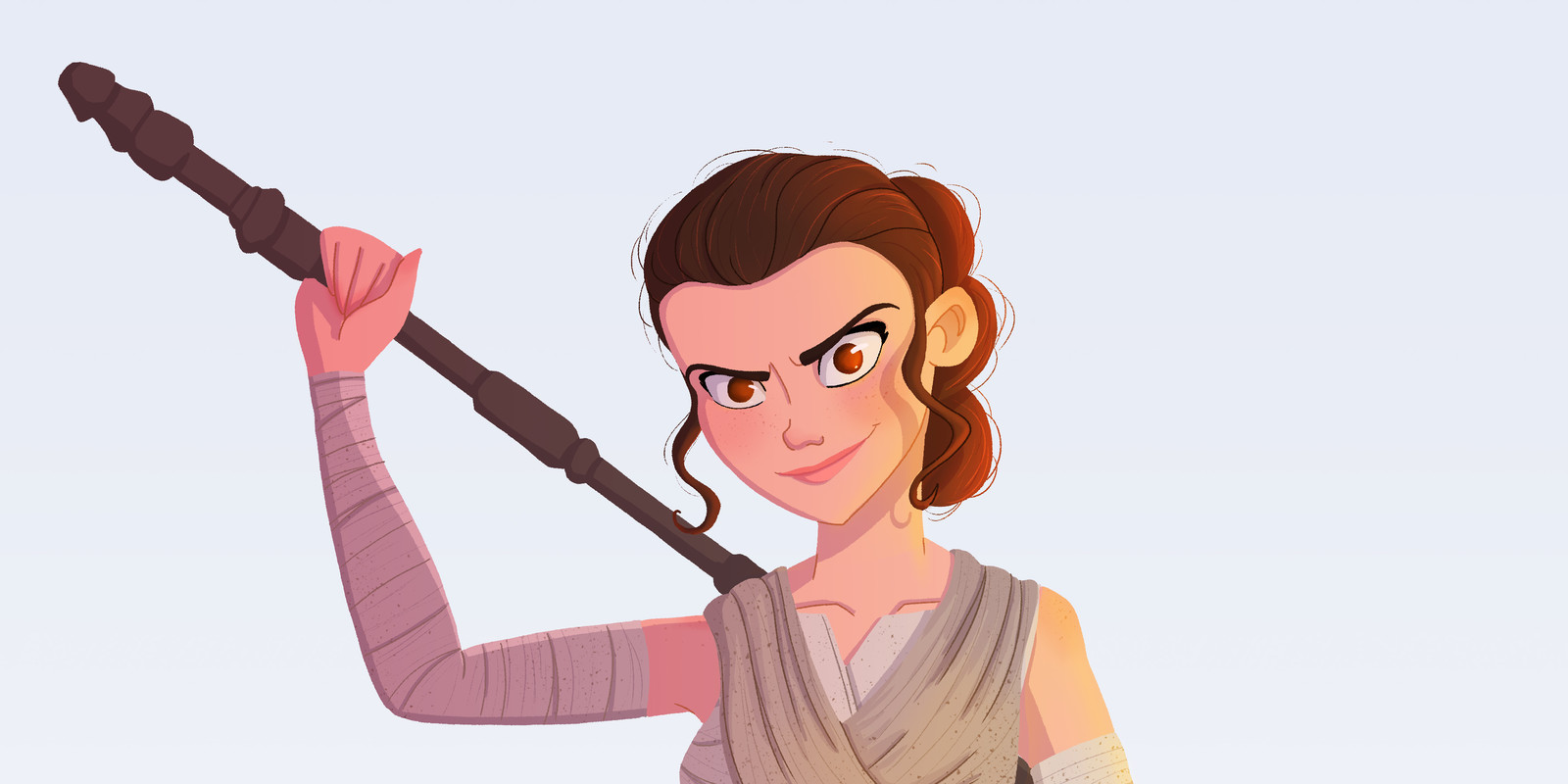 Rey Starwars Fan art
