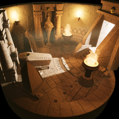 Tomb of the Ancient King, Unreal Engine 4