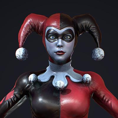 Character Texturing Study - Harley Quinn