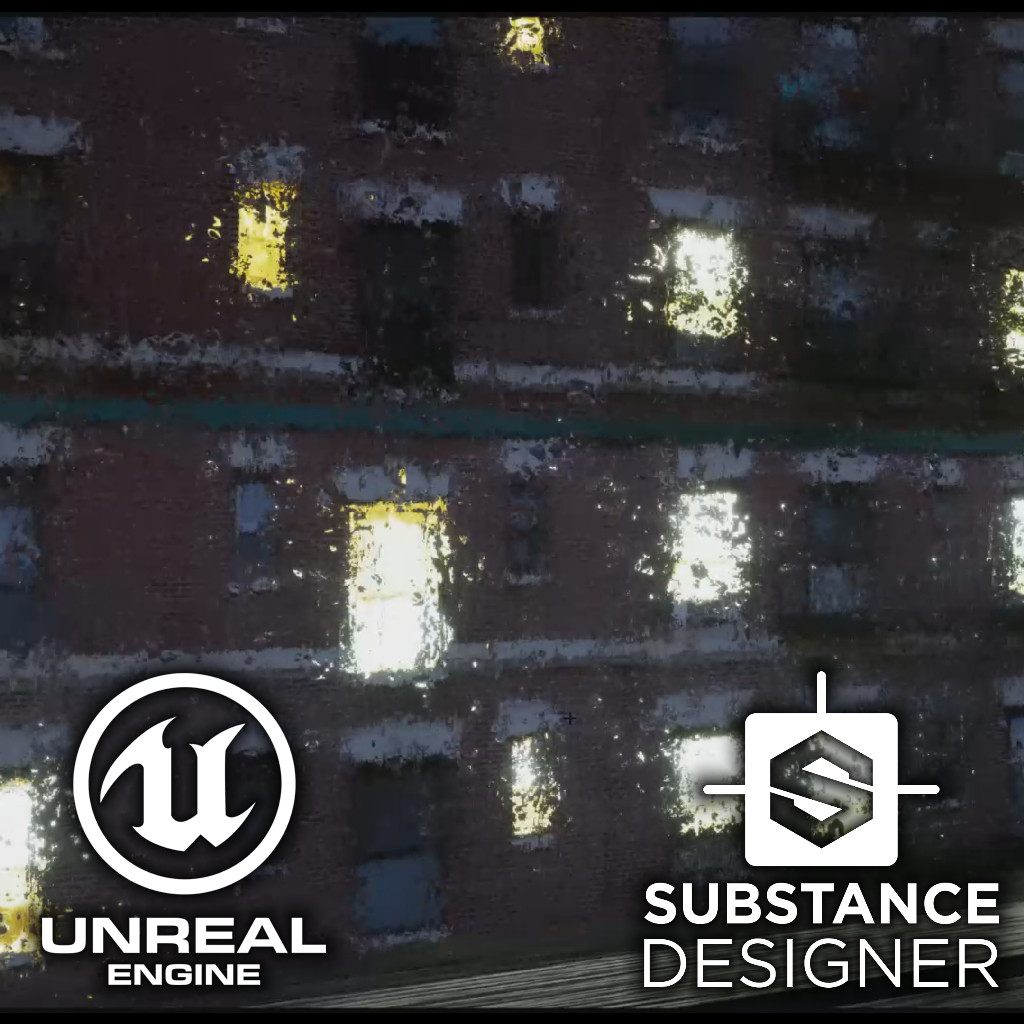 Unreal Engine - Realtime Rain (Work)flow