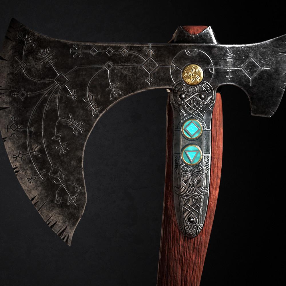 Artstation God Of War Leviathan Axe Thameshin Pather