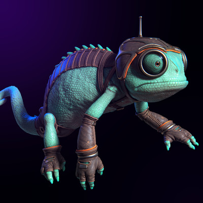 Occultart   small cameleon render 02 full a01 001