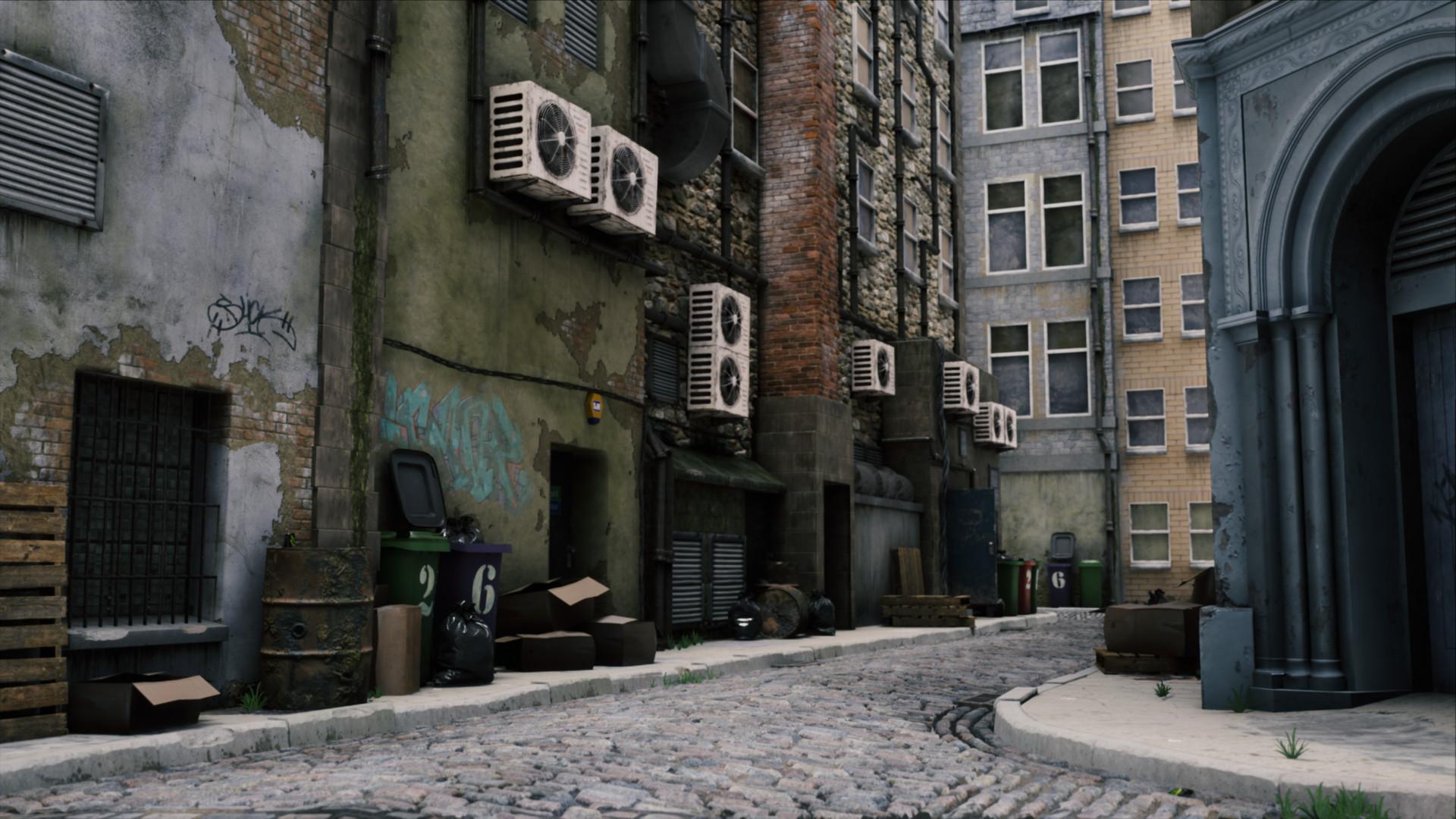 ArtStation - Dirty Alley, George Garton