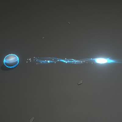 Blue Magical Projectile