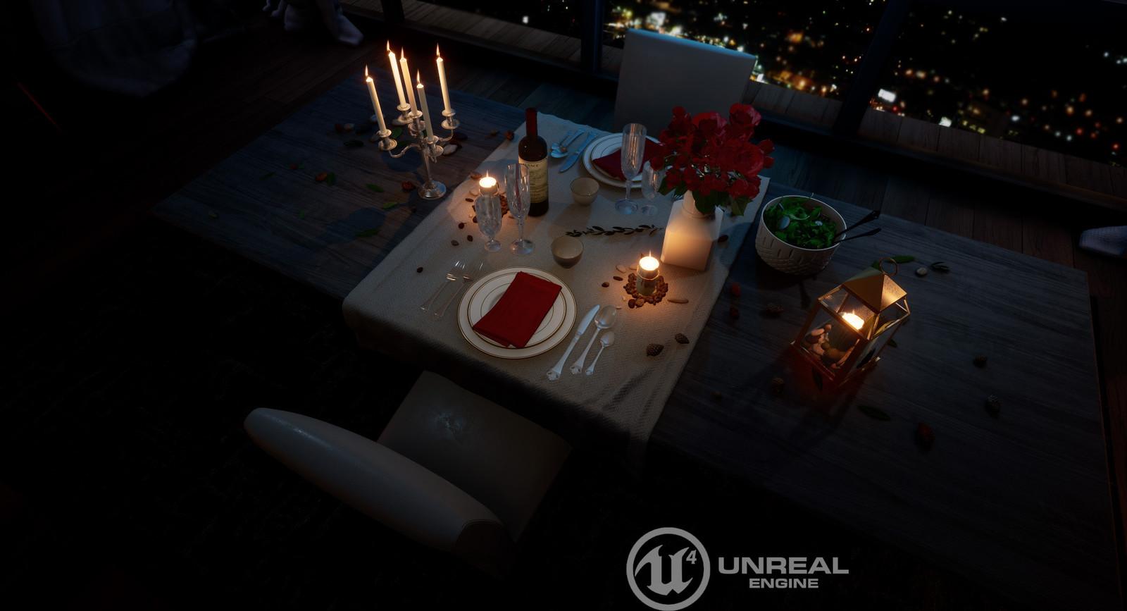 Romantic Dinner - Unreal Engine