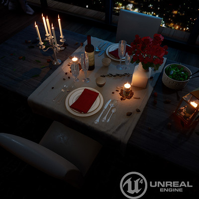 Romantic Dinner - Unreal Engine