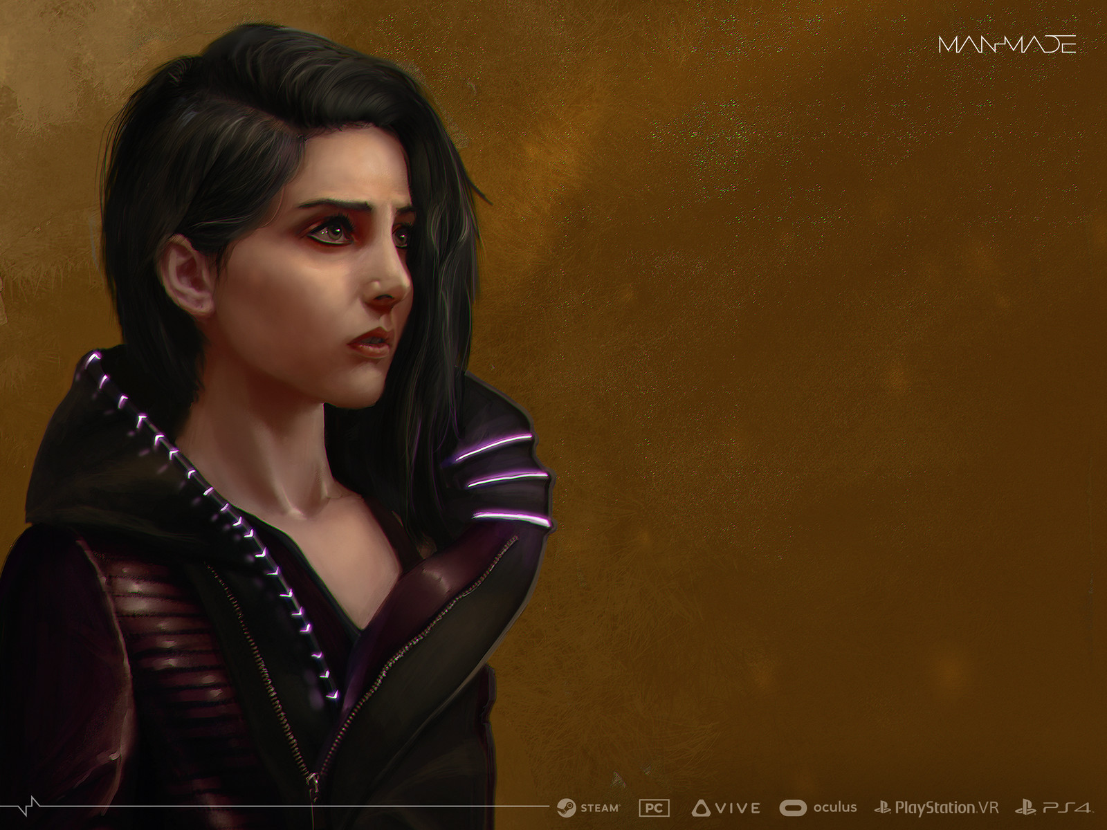Character Illustrations, Design and Asset Design for ManMade: SciFi Action Adventure Game