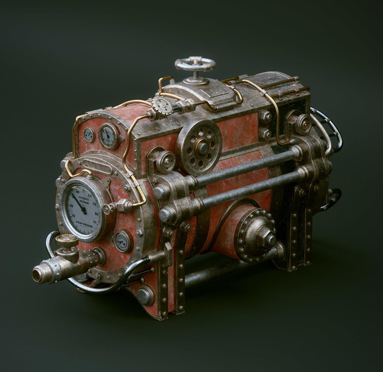 Steampunk machines V01