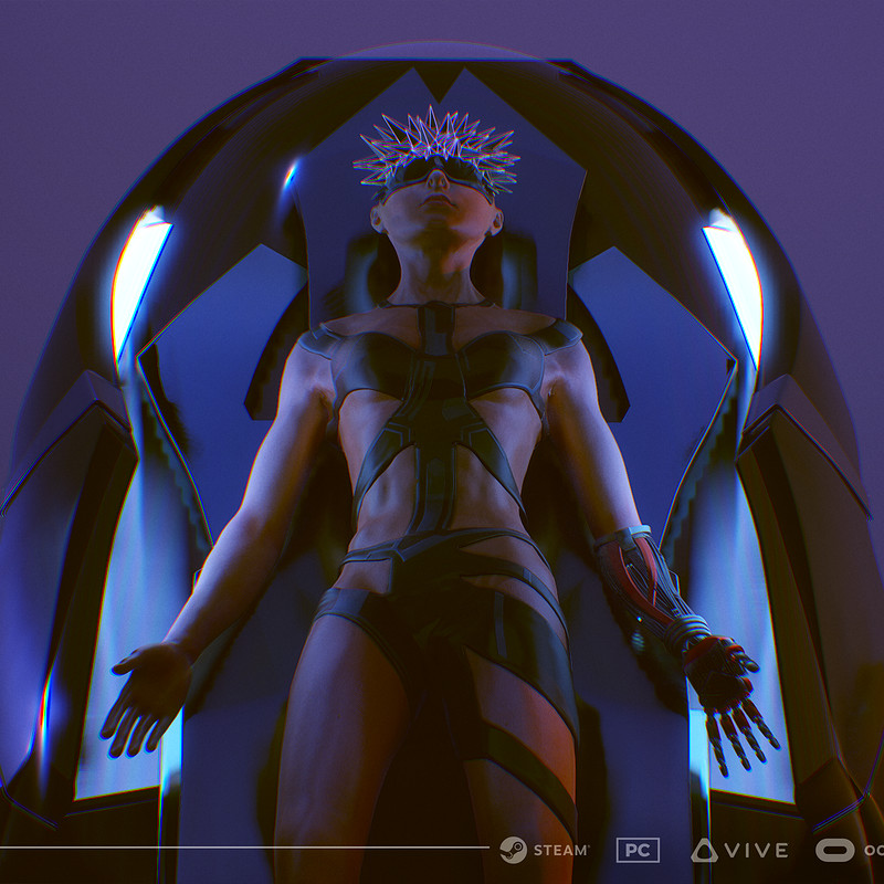 Woman in Chamber (3d Character Texturing for ManMade: SciFi Action Adventure Game)