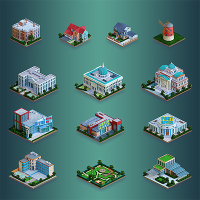 Isometric buildings for NCIS: Hidden crimes