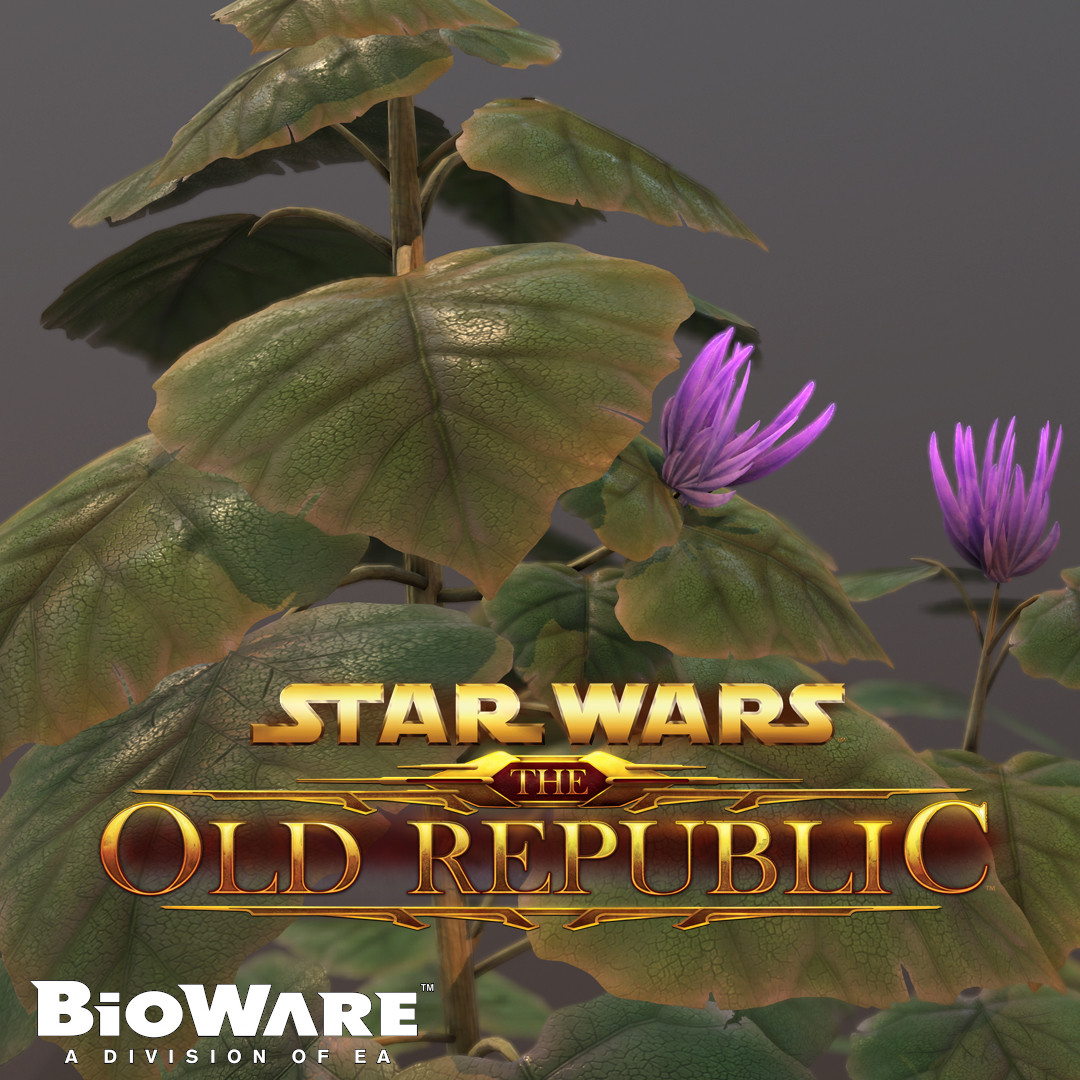Star Wars: The Old Republic- Nathema Plant Asset Marmoset Render