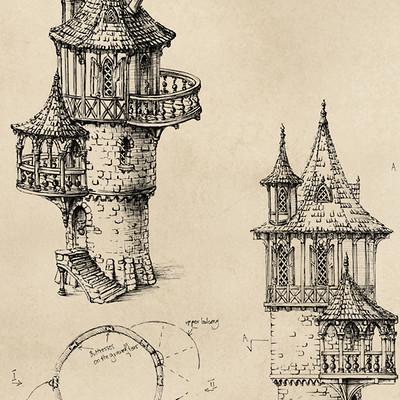 Elwira pawlikowska wizards tower elevations ii