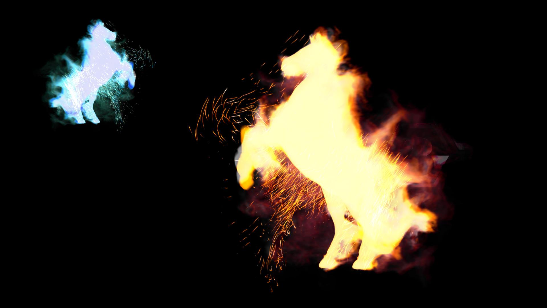 ArtStation - Horse On Fire, Michael Randriamiandriray