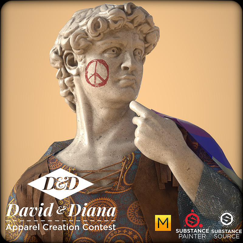 Hippie David - #ApparelCreationContest
