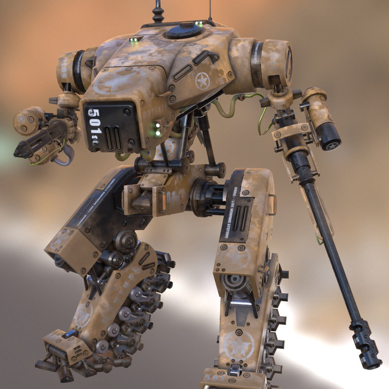 Marines Mech Game Ready Mesh