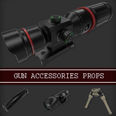 Gun Accessories Props