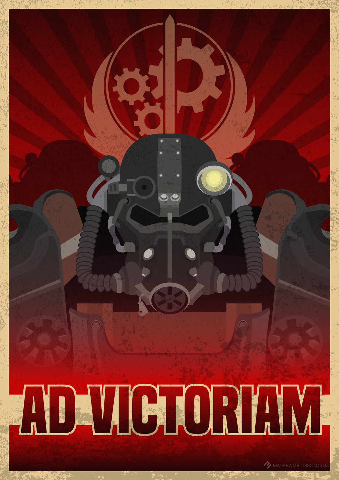 """Fallout 4 - """"Ad Victoriam!"""" Brotherhood of Steel poster"""