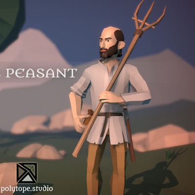 Polytope studio pt medieval lowpoly peasant x