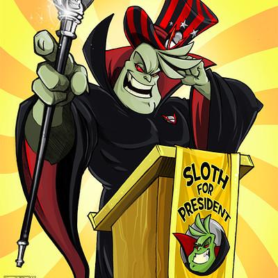 Shamine king sloth for president