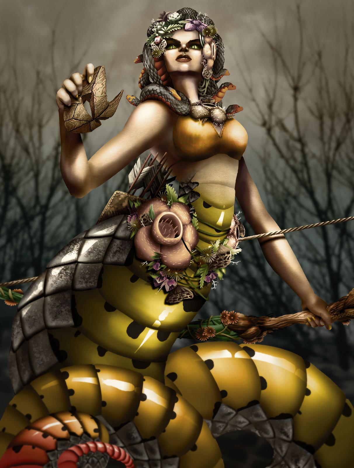 Medusa, Skin Concept