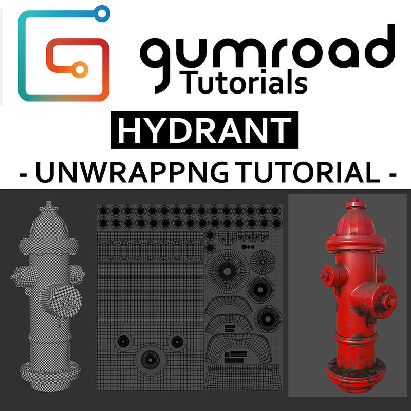 Hydrant - Unwrapping Tutorial - 8€