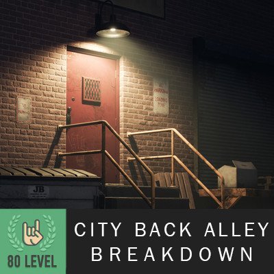 City Back Alley (UE4) Breakdown