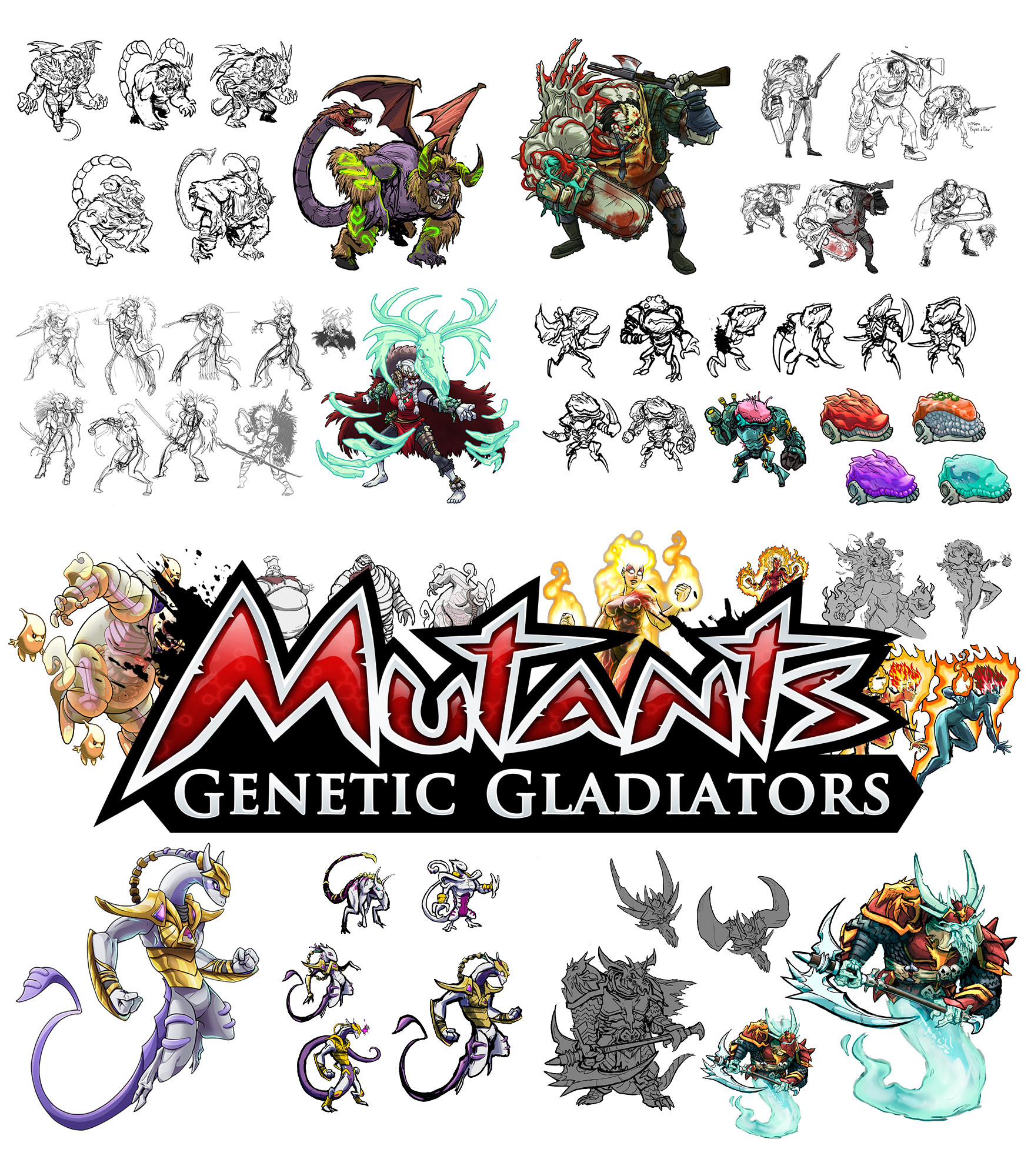 Mutants - Concepts / sketches