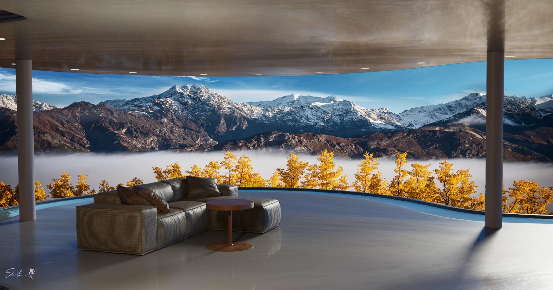Architectural living room design