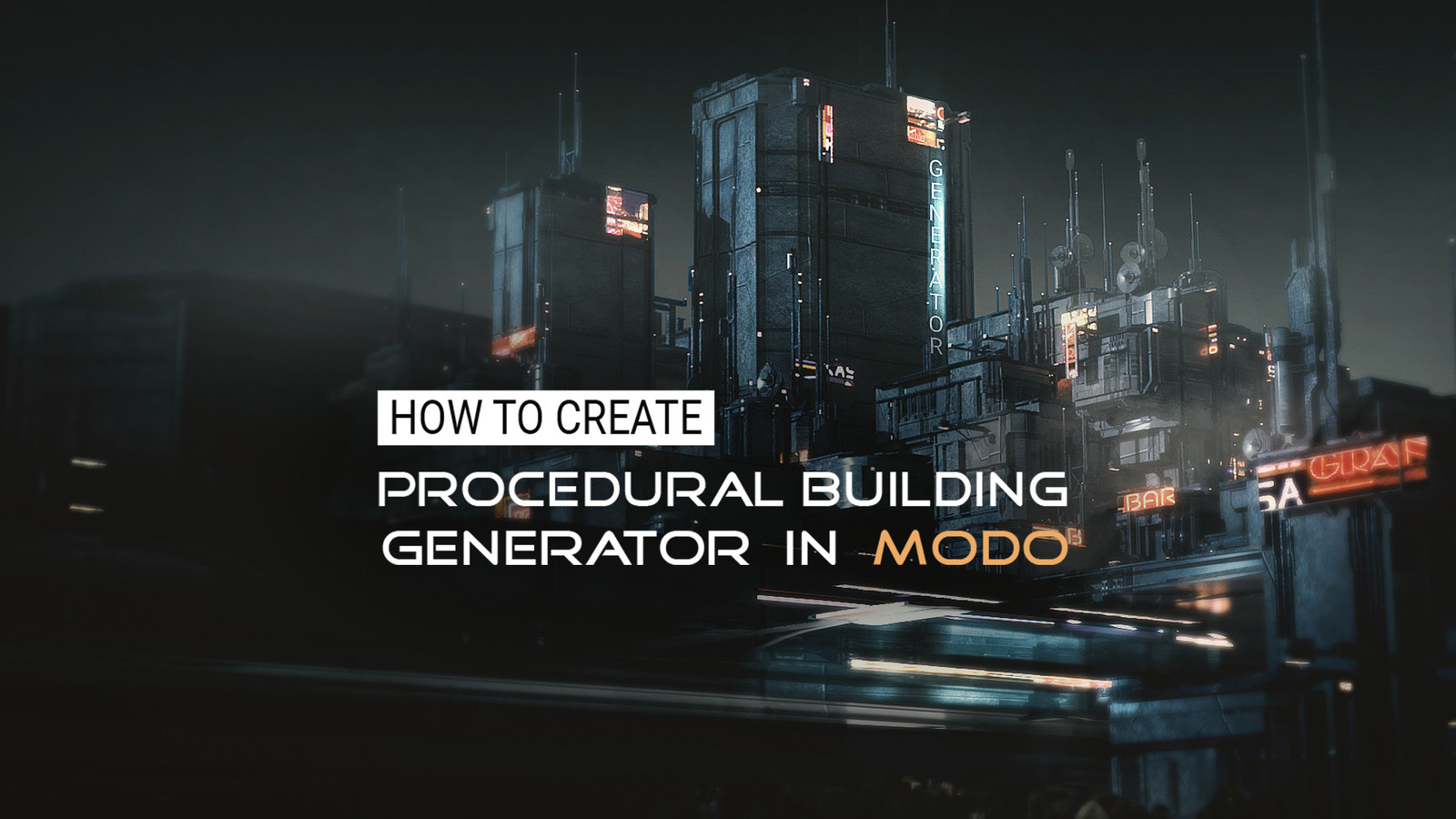 Gumroad - How to create Procedural Building Generator in Modo