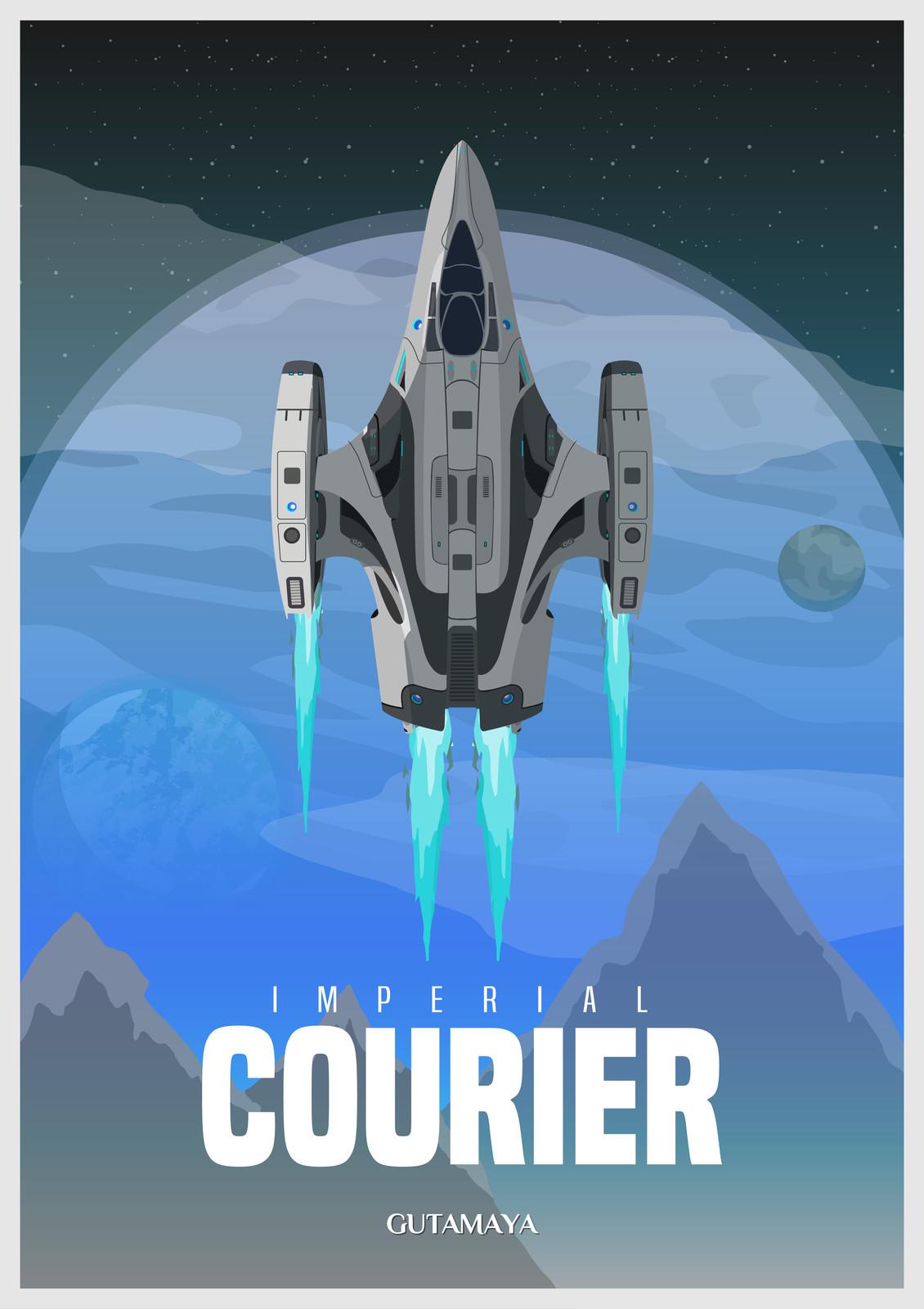 Elite Dangerous - Imperial Courier Poster