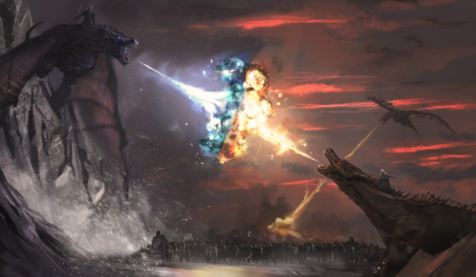 Clash of fire and ice