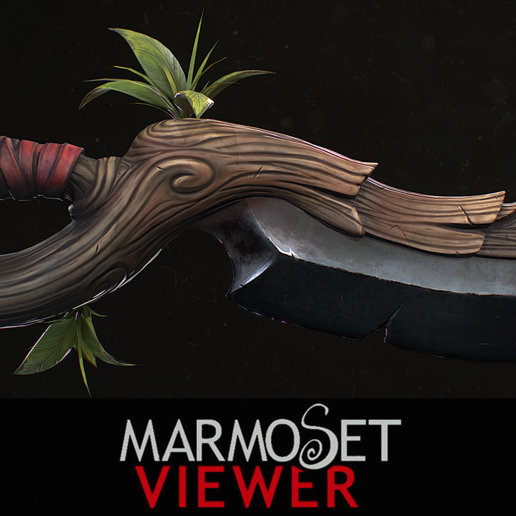 Stylized PBR Dagger Marmoset Viewer