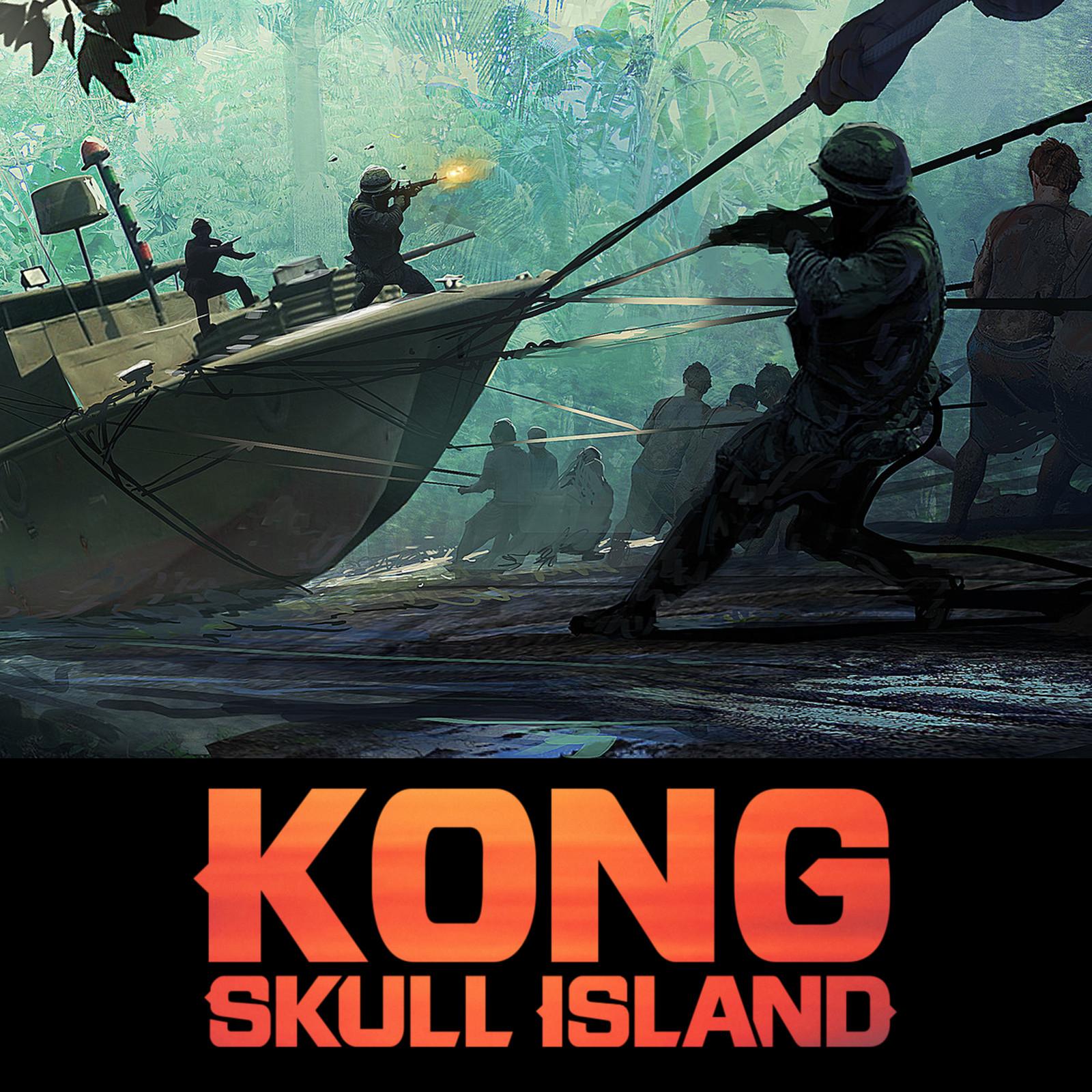 Kong ; Skull Island - river boat haul