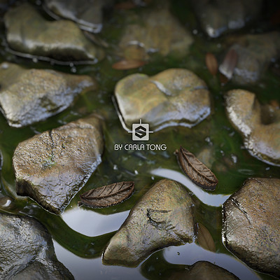 Carla tang substance stone with water wallpaper 02